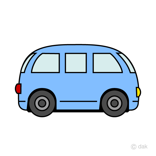 Cute Van Clipart Free Picture|Illustoon.