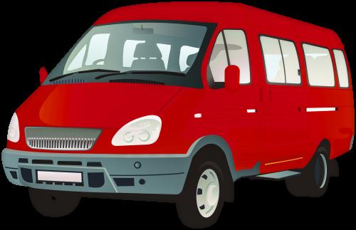 Passenger Van PNG Clip Art.