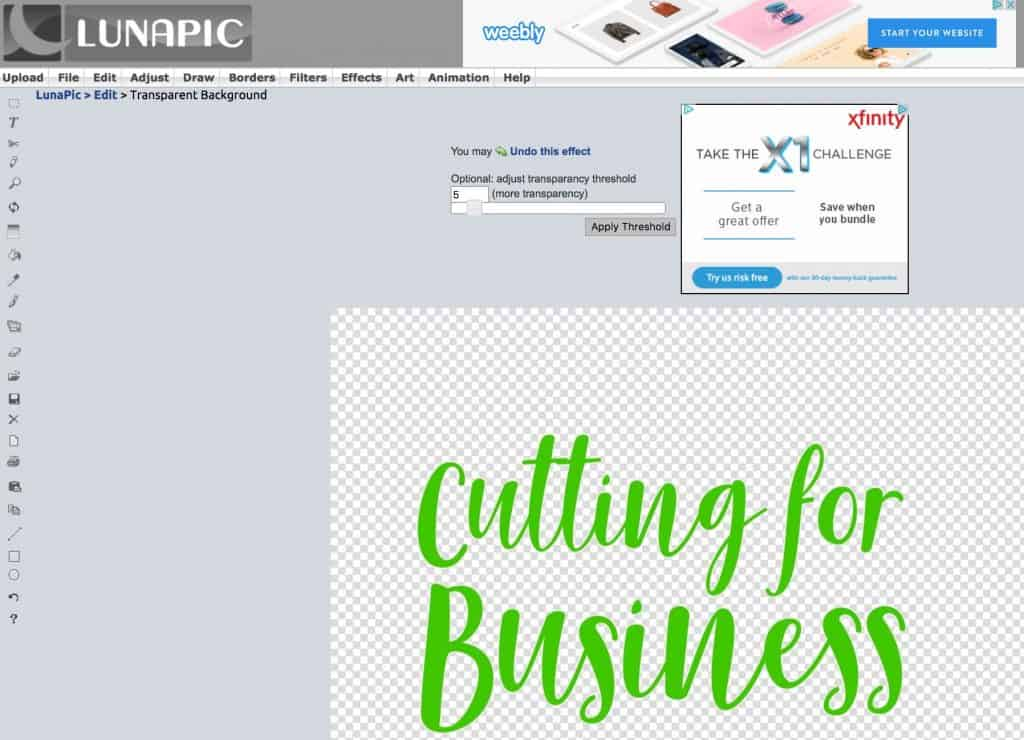 How to Save as .png, .jpg, or .pdf from Silhouette Studio.