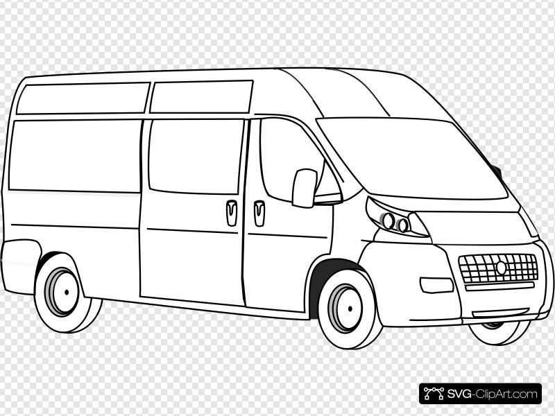 Van Outline Clip art, Icon and SVG.