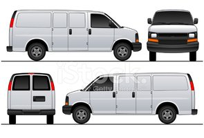 Chev Express / Savana Van 2007 Swinging Doors Vector.