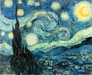Van Gogh Starry Night Clipart.