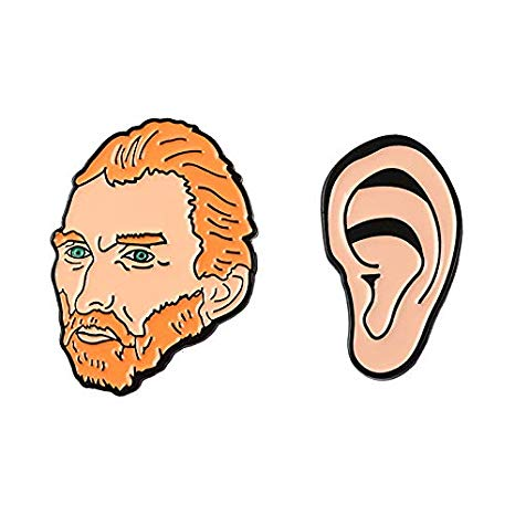 Amazon.com : LFDHZ Vincent Van Gogh Pin Art Artist Lapel.