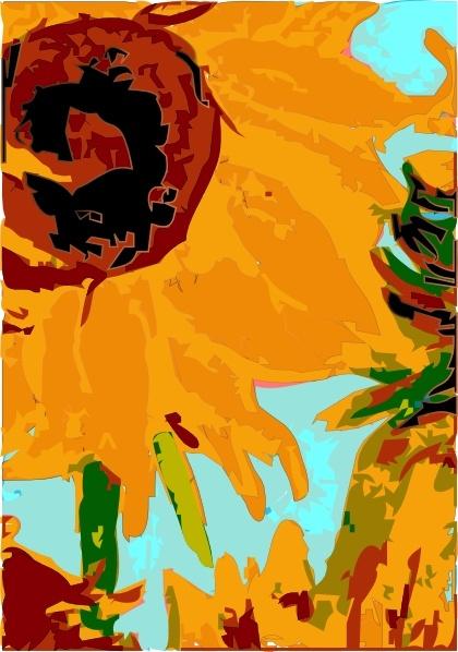 Van Gogh \'s Sun Flower clip art Free vector in Open office.