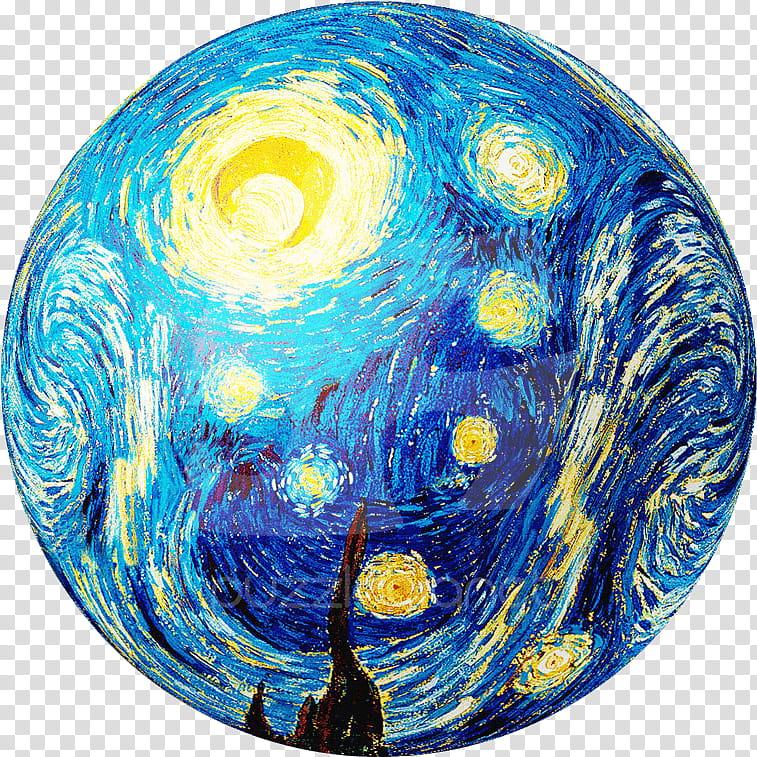 Earth, Starry Night, Van Gogh Selfportrait, Painting.
