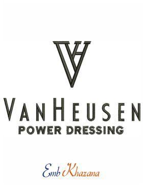Van Heusen Logo embroidery design.