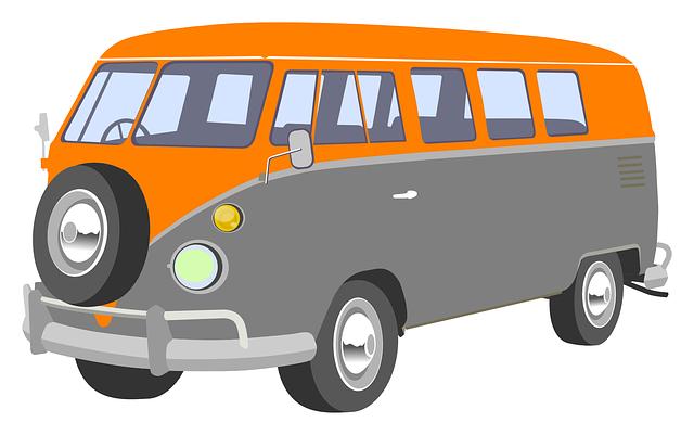 Free Retro Camper Van Clip Art.