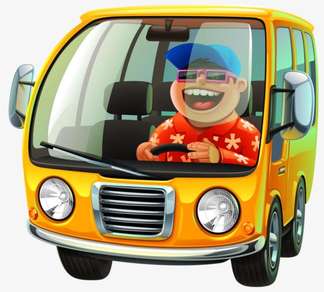 Van driver PNG clipart.