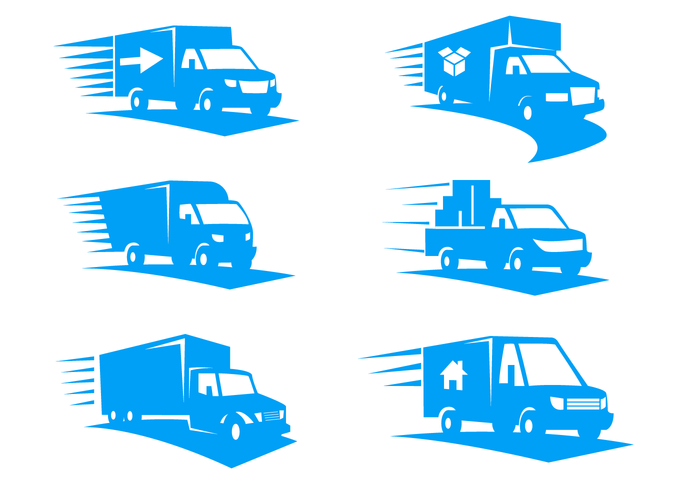 Moving Van Logo Vector.