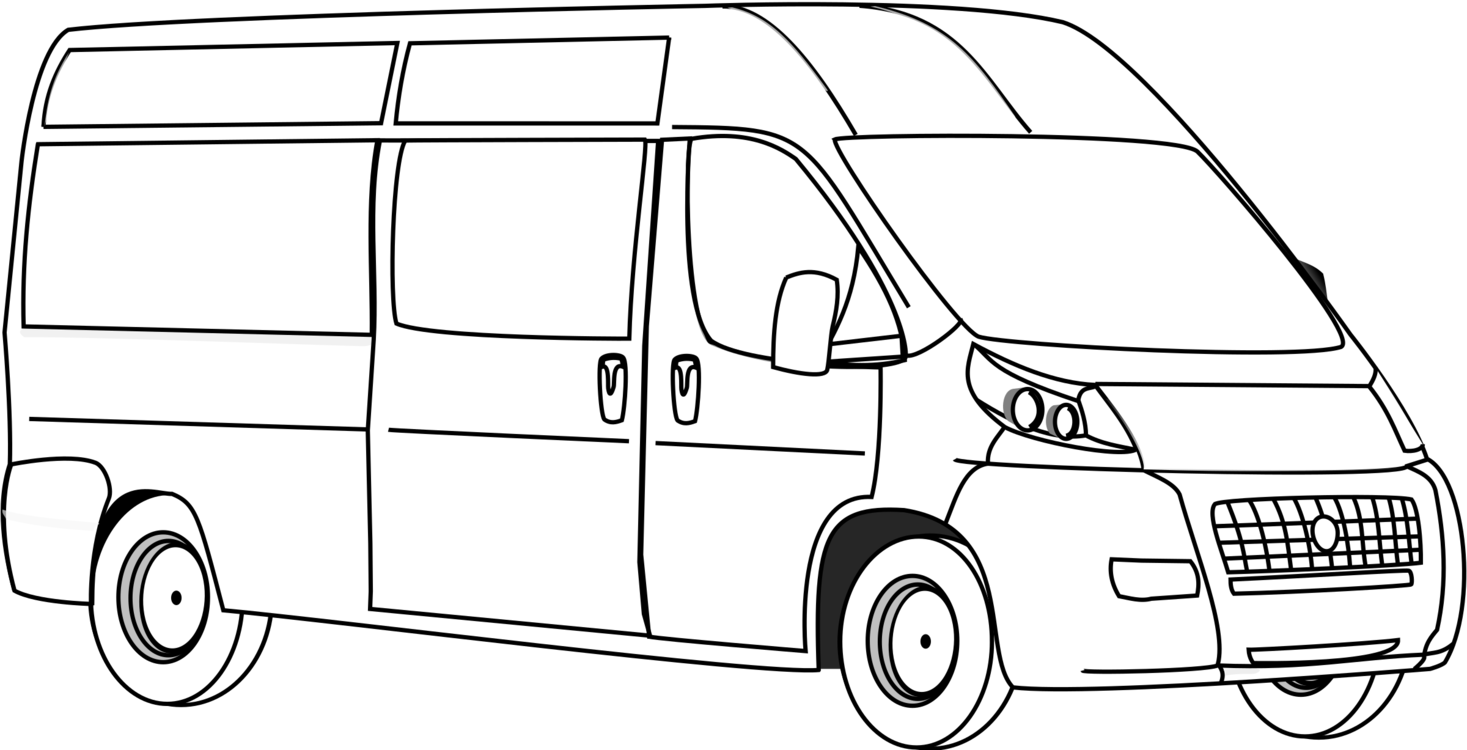 Minivan Clipart Driver Van.