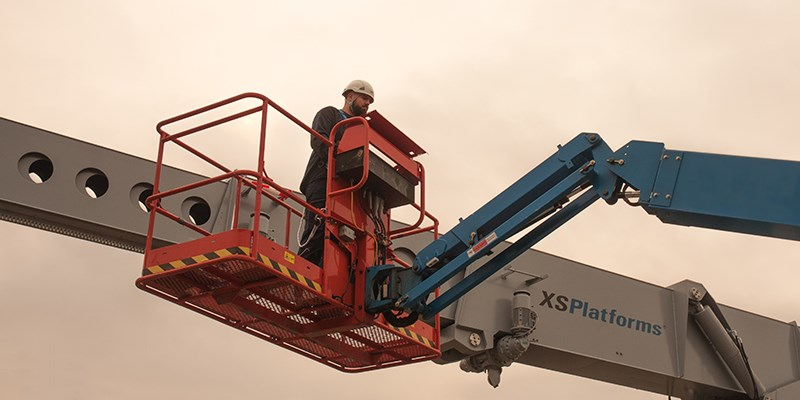 Fall protection in aerial lifts.