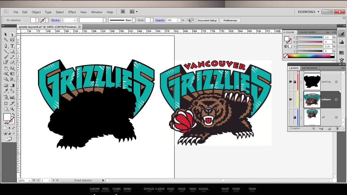 Vancouver Grizzlies Logo Remake.