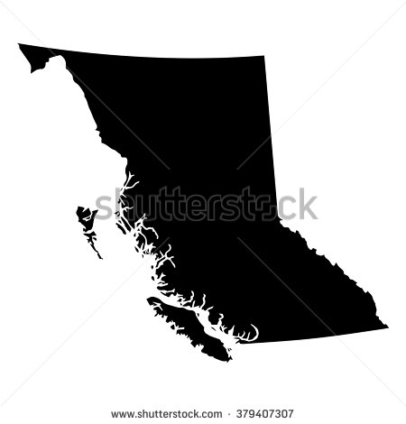 Image pacific northwest map clipart bw.