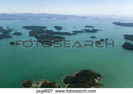 Picture of Aerial View Broken Group Islands West Coast Vancouver.