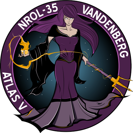 Emblem for tomorrows @ulalaunch #atlasv from vandenberg afb.