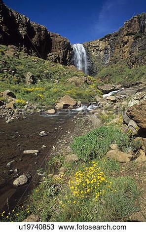 Stock Photo of waterfall in lesotho philip van den berg view.