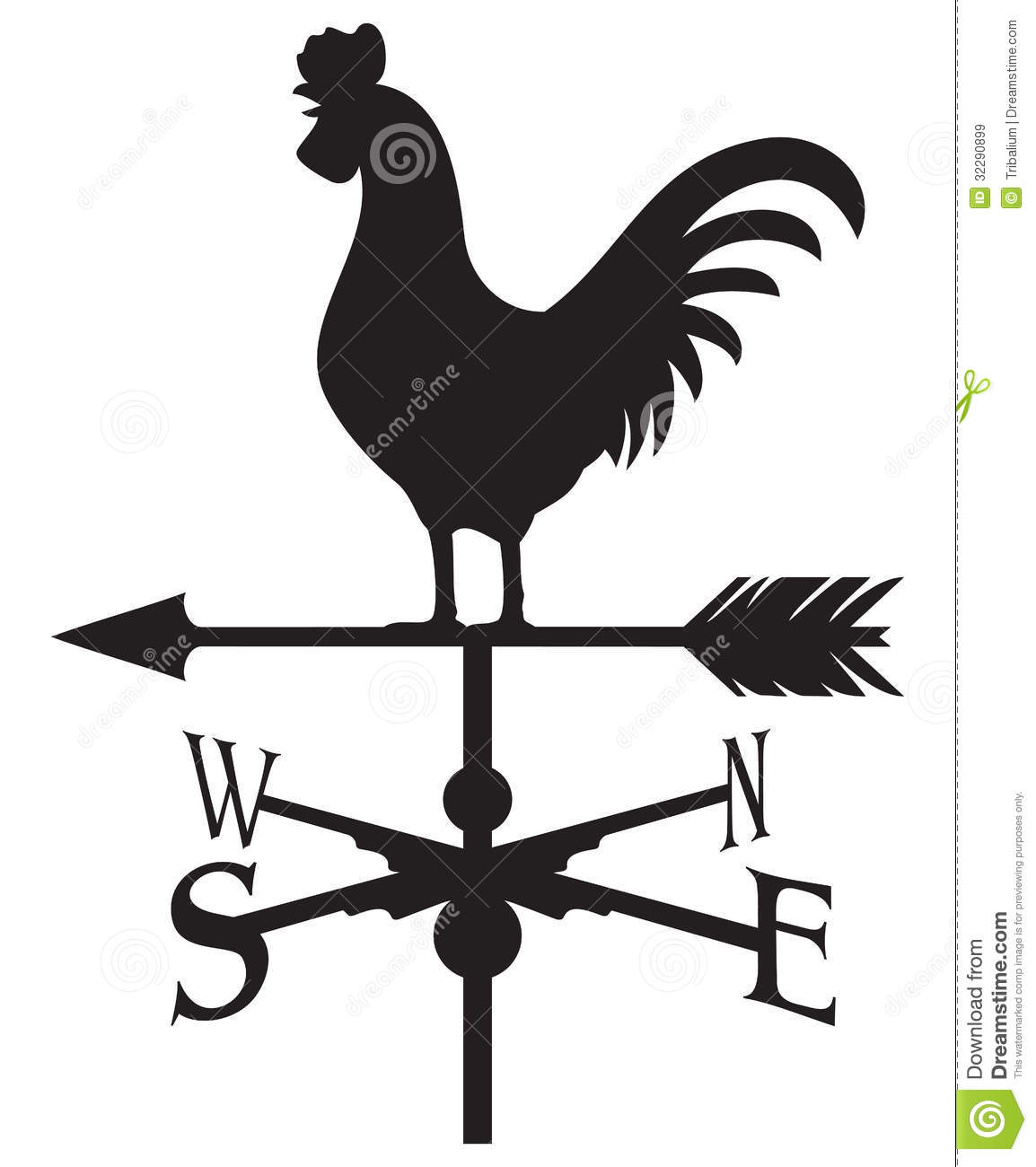 Cartoon weather vane arrow clipart.