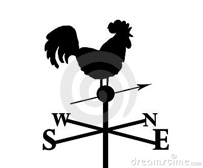 Weather Vane Stock Illustrations.