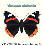 Vanessa Clipart Vector Graphics. 20 vanessa EPS clip art vector.
