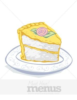 Vanilla Cake Clipart.