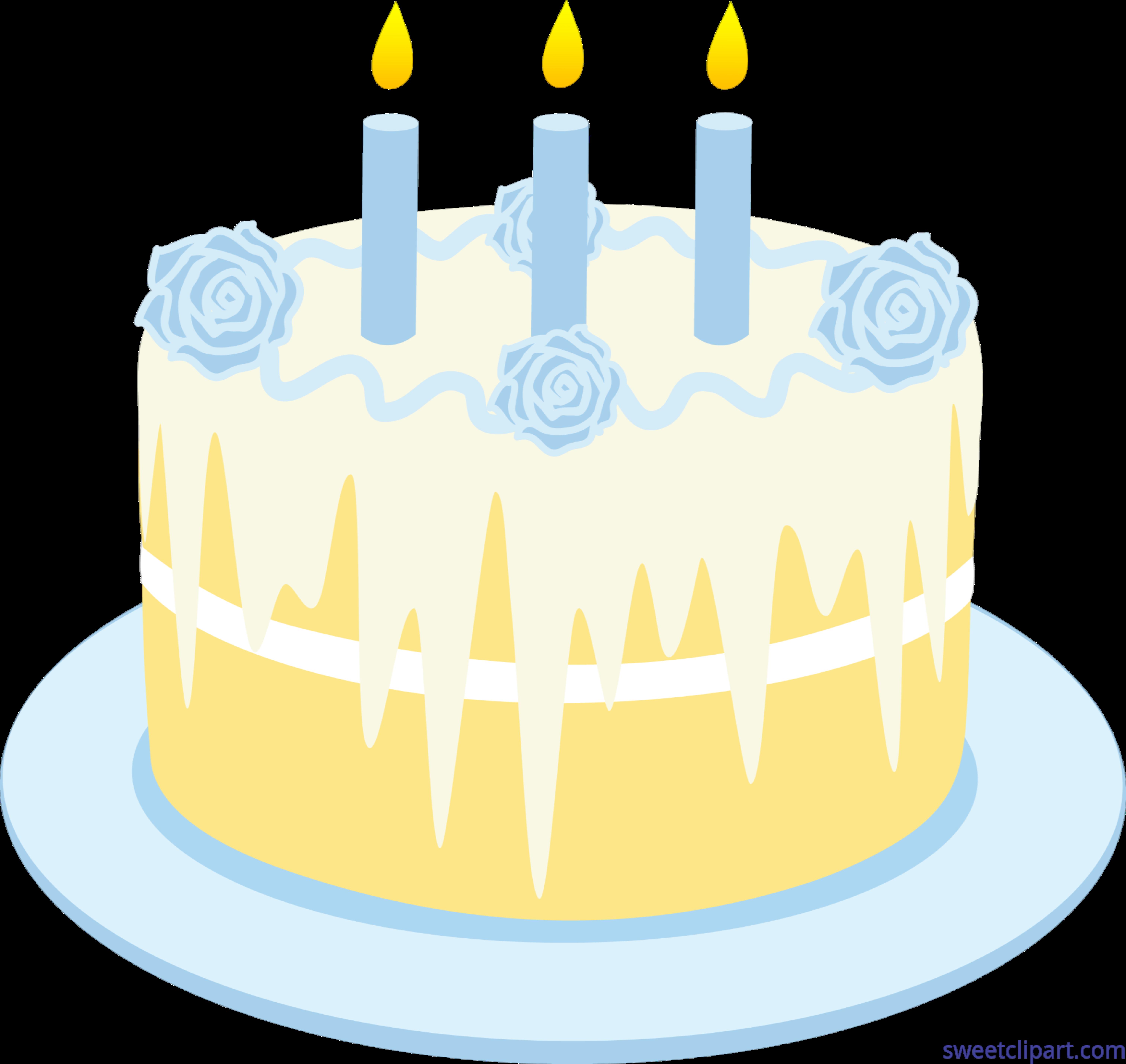 Food Holidays Birthday Cake 2 With Candles Vanilla Clip Art.