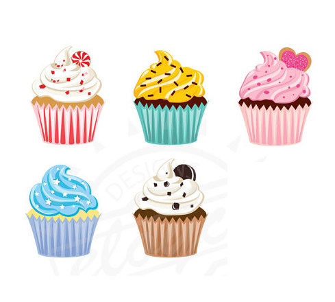 Vanilla Cupcake Clipart valentine cupcake 5.