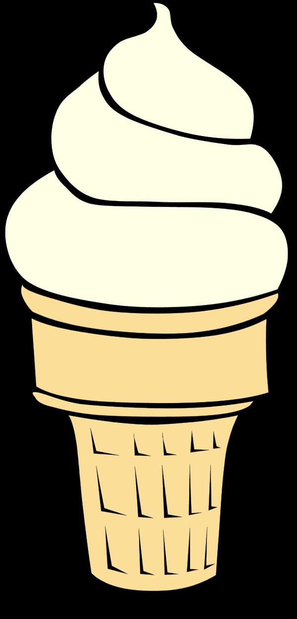 Vanilla Ice Cream Cone Clipart.