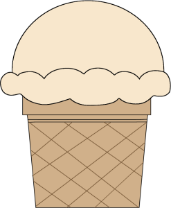Vanilla Ice Cream Scoop Clipart.