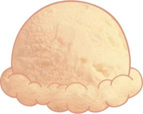 Vanilla ice cream clipart.
