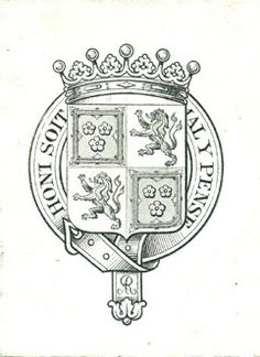 Ex Libris of Dudley Ryder, 1st Earl of Harrowby, PC.