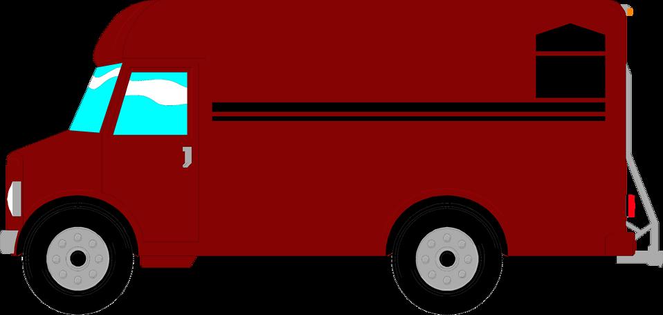 Food delivery van clipart free.