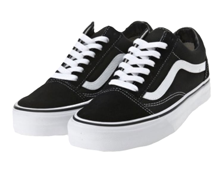 Black and white vans discovered by Lill.