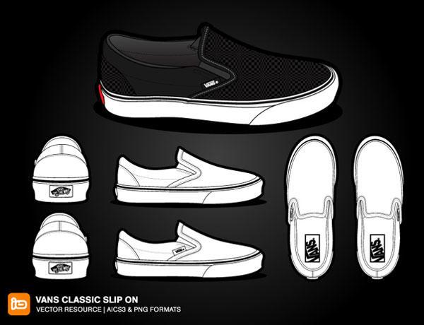 Vans Classic Slip On Shoes.