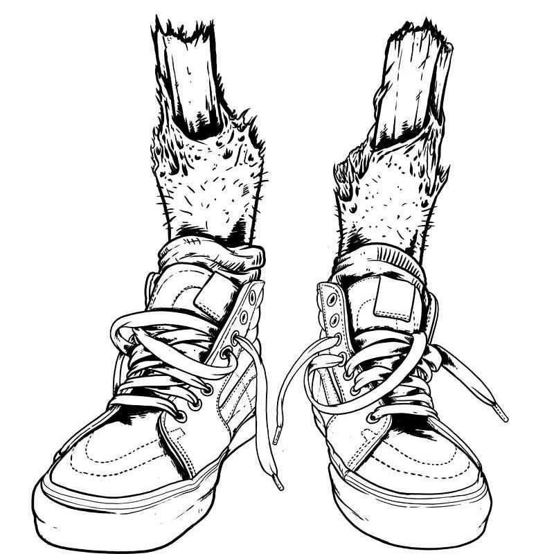 Marcos Cabrera Doodles! — Working on some new Vans Sk8 Hi.