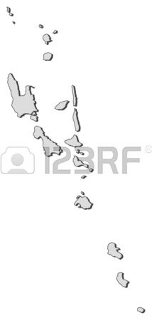 Vanuatu Black And White Clipart.