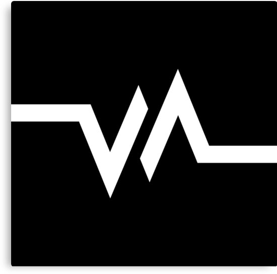 \'Vape Nation Logo (WHITE)\' Canvas Print by MotherBoredom.