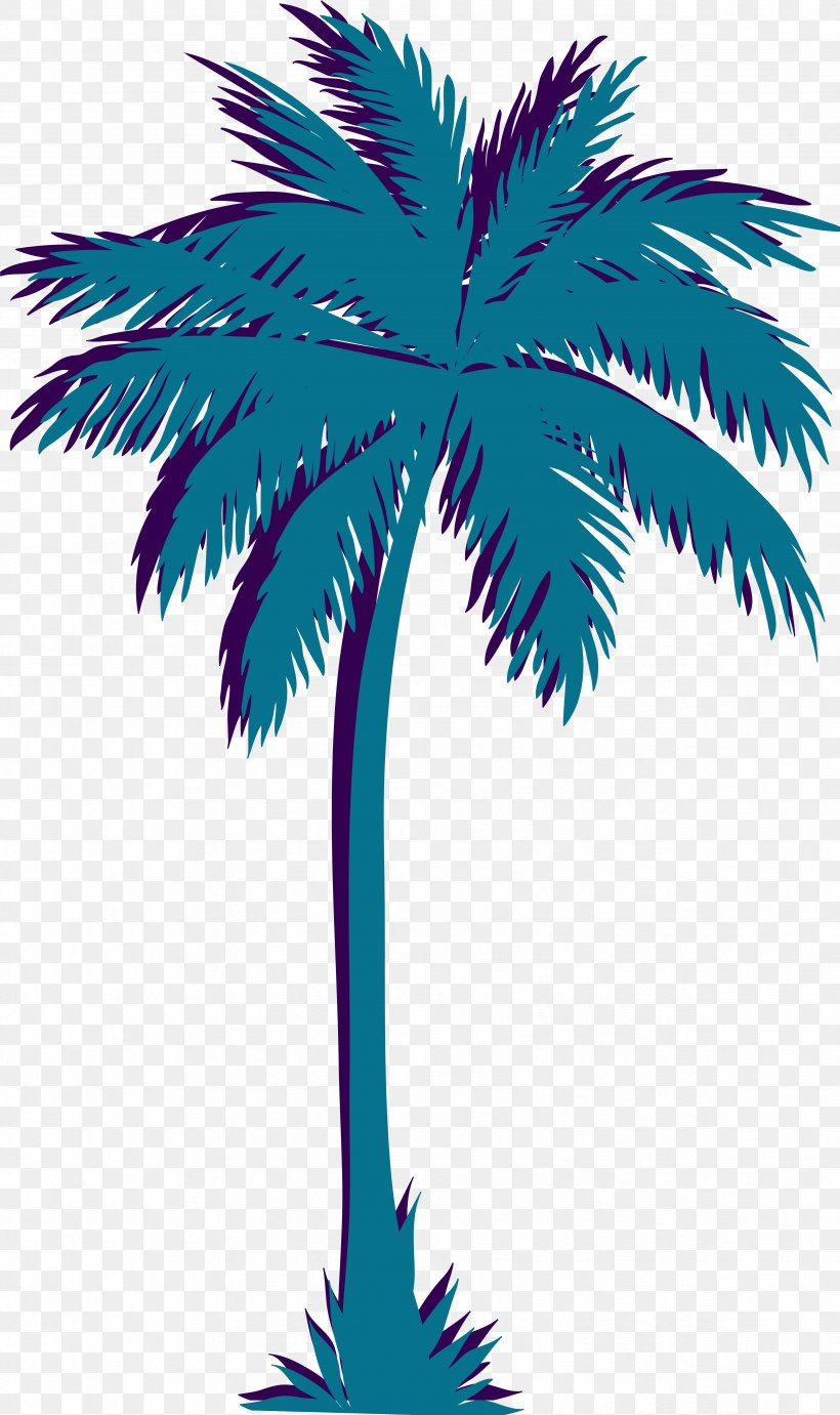 Palm Trees Vaporwave Clip Art Vector Graphics, PNG.