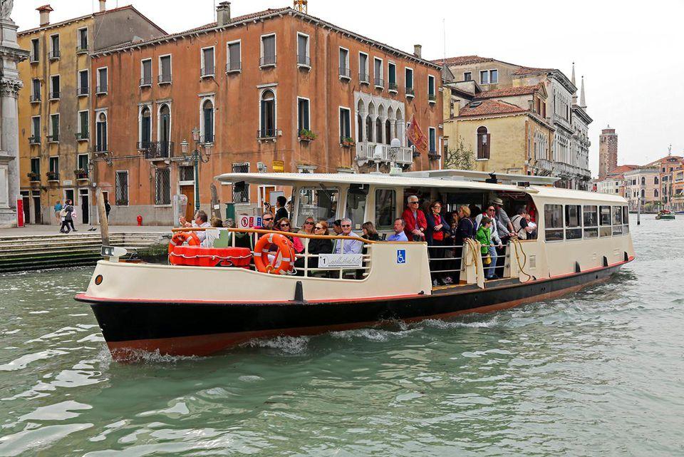 Public Transportation in Venice: The Vaporetto.