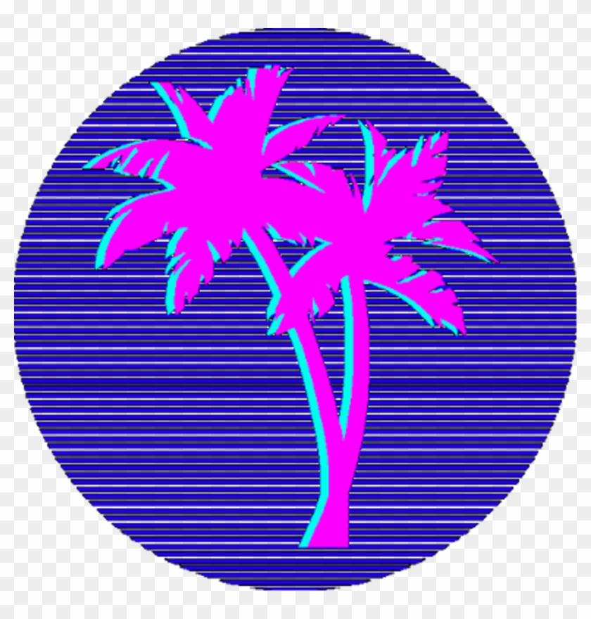 Vaporwave Clipart Purple.
