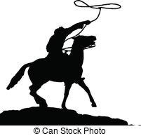 Vaquero clipart silhouette.