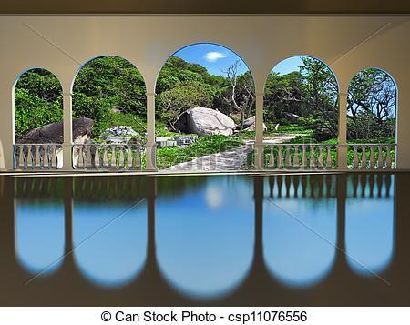 Stock Illustrations of veranda csp11076556.