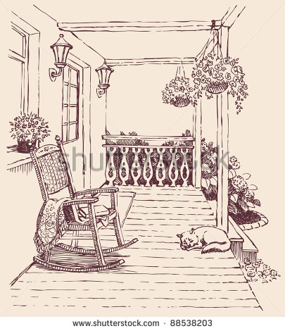 Old Back Porch Clipart.