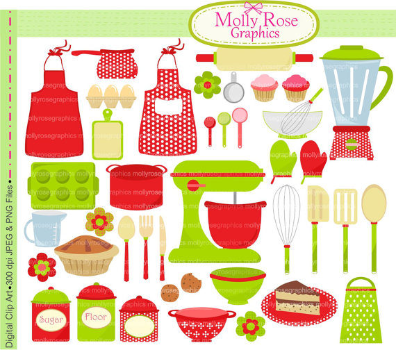 Digital Clip Art christmas cooking, baking clip art,bake,cooking.