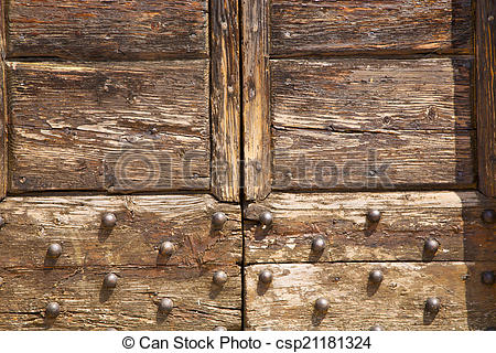 Stock Photo of samarate abstract closed wood lombardy italy varese.