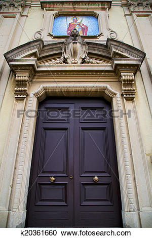 Stock Photography of church caiello gallarate varese italy the old.