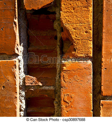 Pictures of brick in the centre of cairate varese italy.