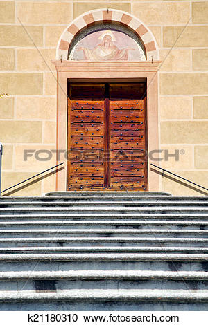 Stock Photography of church tradate varese italy old door entrance.