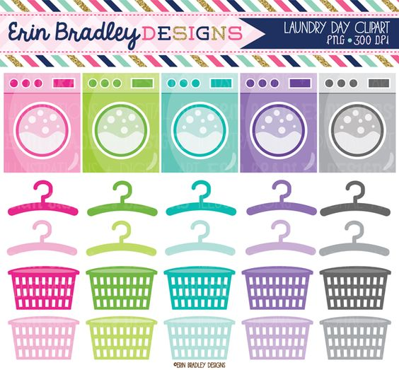 Laundry Clipart Graphics Chore Clip Art Personal & Commercial Use.