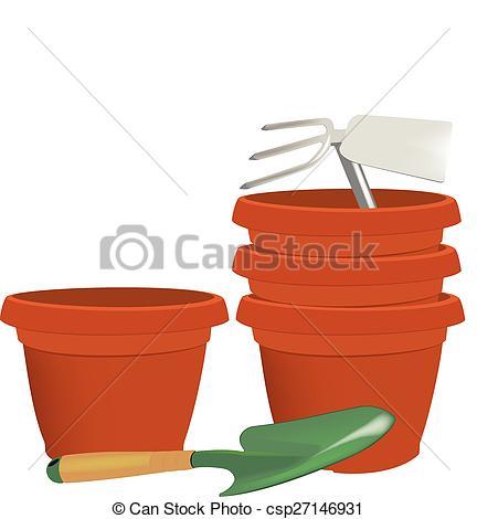 Vectors of Gardening pots and atrezzatura vari.