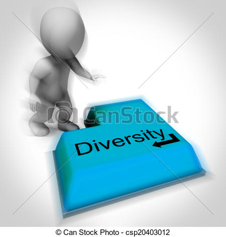 Clipart of Diversity Keyboard Means Multi.